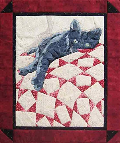 Picture Piecing New Foundation Paper Piecing Method - - 19 x 22 1//2 Quilt Cat Nap