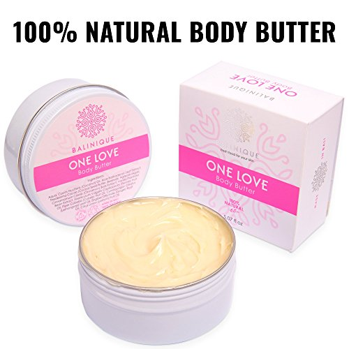 ONE LOVE Natural Body Butter – 100% - 100% Pure & Organic Body Butter for Women & Men - Pregnancy Body Butter - Body Butter for Women - Vanilla Body Butter - Coconut Body Butter - Grace Body Butter