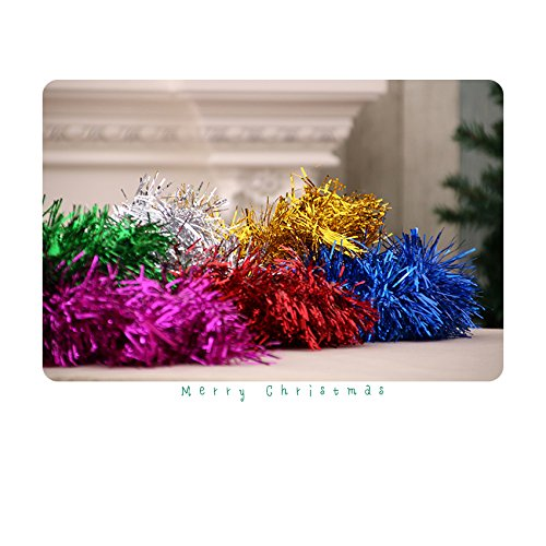 BEIED Christmas Tree Tinsel Garland Ceiling Decorations Hanging Ornaments 3pcs Random Color