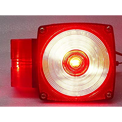 Kaper II 1T-V-1021 Red Trailer Stop/Turn/Tail Light: Automotive