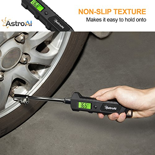 AstroAI ATG230 Digital Tire Pressure Gauge 230 PSI RV Heavy Duty Dual Head Stainless Steel Made for Truck Car with Larger Backlit LCD and Flashlight by AstroAI (Image #3)
