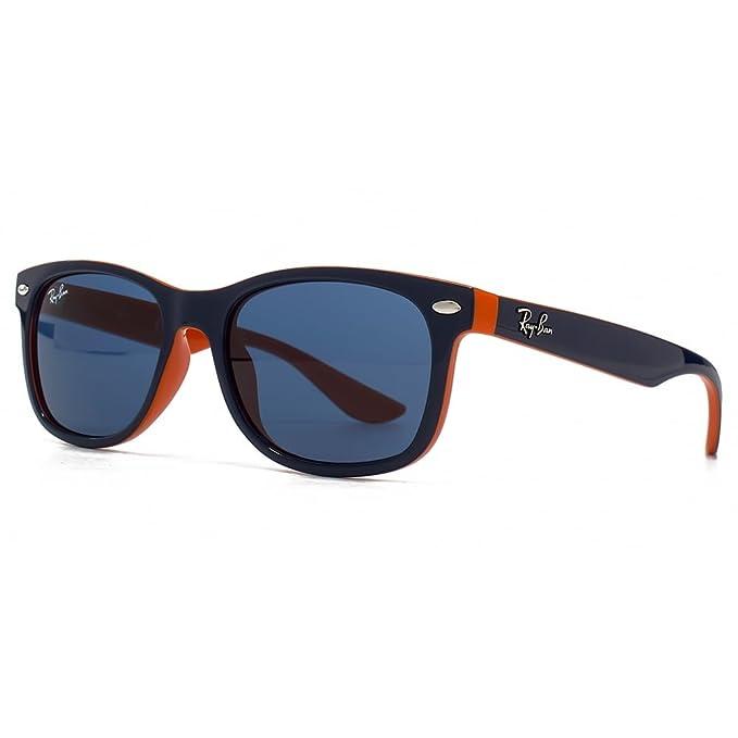 Ray-Ban Junior Gafas de sol Wayfarer en azul en naranja RJ9052S 178/80 48