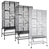 Small Animals Cage Pet Crate 3 Stage w/ Stand - Vein Black