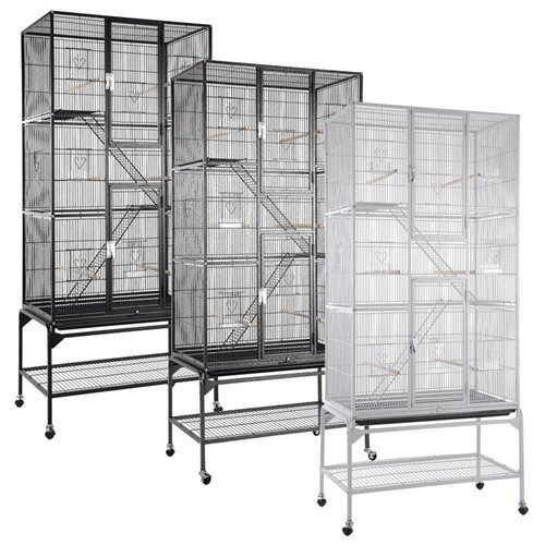 Small Animals Cage Pet Crate 3 Stage w/ Stand - Vein Black by Unitech