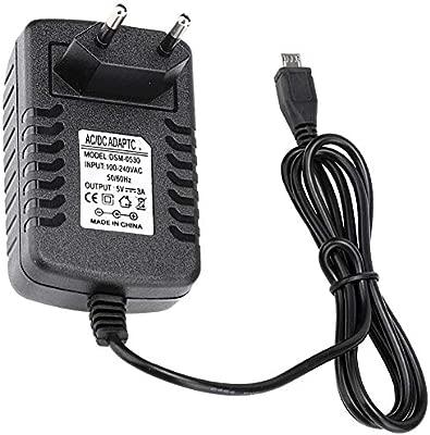 ASHATA Adaptador alimentación Micro USB, DC 5V 3A Adaptador ...