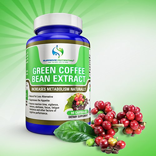 Supreme Potential 100% Pure Green Coffee Bean Extract for Natural Weight Loss and Metabolism Support - 800mg Capsules - 180 Capsules - 90 Day Supply - Manufactured in USA. by Supreme Potential (Image #5)
