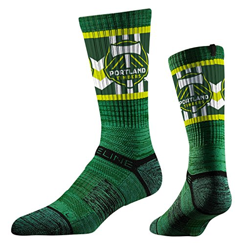 Strideline MLS Portland Timbers Premium Athletic Crew Socks, Green, One Size