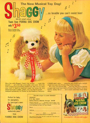 shaggy-musical-toy-dog-offer-from-purina-dog-chow-ad-1966