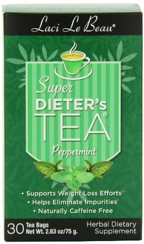 - Laci Le Beau Super Dieter's Tea, Peppermint, 30 Count Box (Pack of 4)