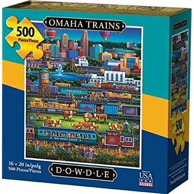 Dowdle Jigsaw Puzzle - Omaha Trains - 500 Piece: Toys & Games