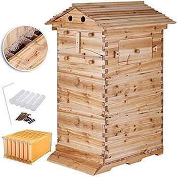Amazon.com: Guo Nuoen Bee Hive Trampa de polen plástico ...