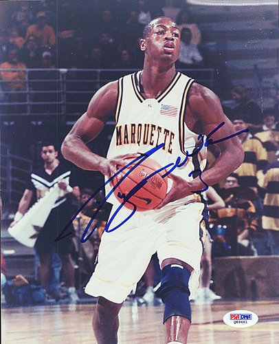 Autographed Wade Photograph - Dwyane Wade Signed 8x10 Photograph Marquette - Certified Genuine Autograph By PSA/DNA - Autographed Photo