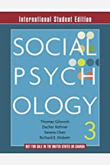 Social Psychology 3e – International Student Edition Capa comum