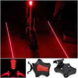 1Pc Optimum 5x LED and 2 Lighter Popular Bike Light Bicycle Brightness Rear Taillight Warning Lamp Color Red