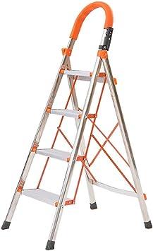 M-Y-S Escalera De Aluminio Del Hogar Plegable Espiga De Escalera Con Pasamanos Multifuncional De Trabajo De Ingeniería General Perfil Al Aire Libre (Size : 4 layers): Amazon.es: Bricolaje y herramientas
