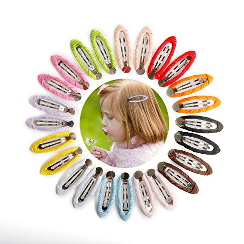 Cover Hair Clip Snap - Munax 100 pcs Girls Toddlers Kids Women Accessories Snap Hair Clips No Slip Metal Hair Clips Cover cloth Barrettes