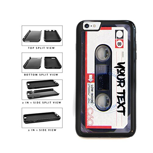 BleuReign(TM) Personalized Custom Name Mixtape Cassette 2-Piece Dual Layer Phone Case Back Cover For Apple iPhone 6 6s (4.7 Inches - Tape Case 4s Iphone Cassette