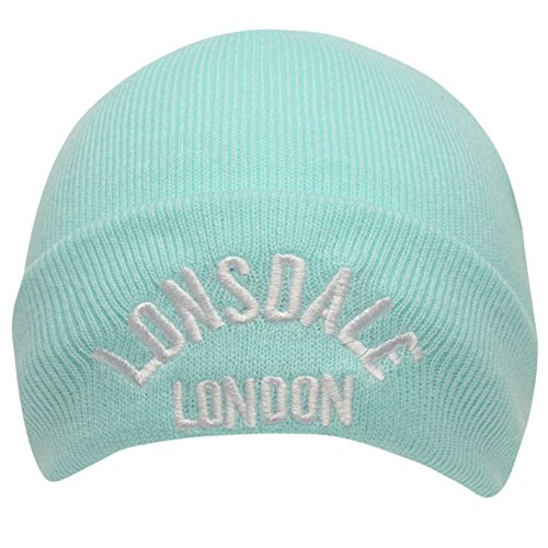 De Hombre Lonsdale Azul Beanie Pastal Logo Gorro 81 Punto OASHq