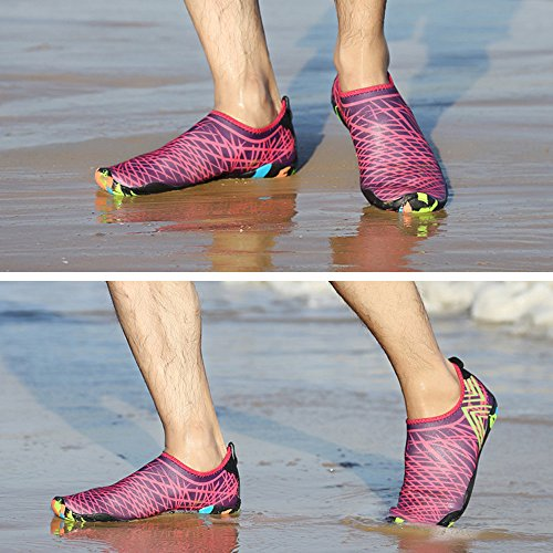 Women Quick Aqua Men Rose Shoes Aerobics Shoes Water Dry Red for Water 5Bfqx0gw5
