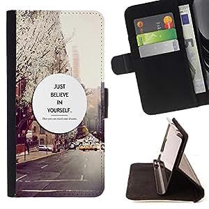 Jordan Colourful Shop - FOR Apple Iphone 6 PLUS 5.5 - just believe in yourful - Leather Case Absorci¨®n cubierta de la caja de alto impacto