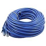 DealMux Laptop RJ45 Patch Ethernet LAN Network Router Wire Cable Cord 15M Length Blue