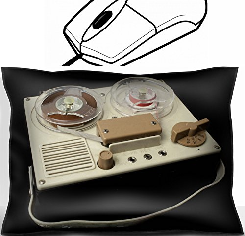 MSD Mouse Wrist Rest Office Decor Wrist Supporter Pillow design 21317377 a small vintage reel to reel tape recorder