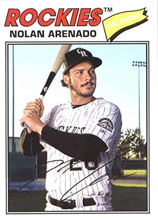 42232e49004e7 Amazon.com: 2018 Topps Archives #124 Nolan Arenado Colorado Rockies ...