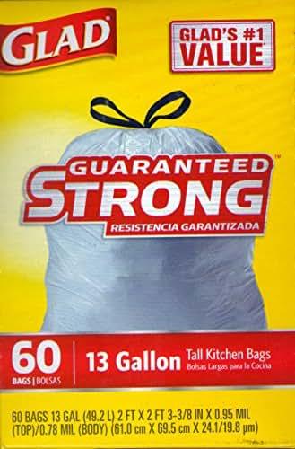 Trash Bags: Glad Guaranteed Strong