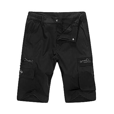 e4cea882bc Amazon.com: Men's Outdoor Water-Resistant Quick Dry Cargo Shorts: Clothing