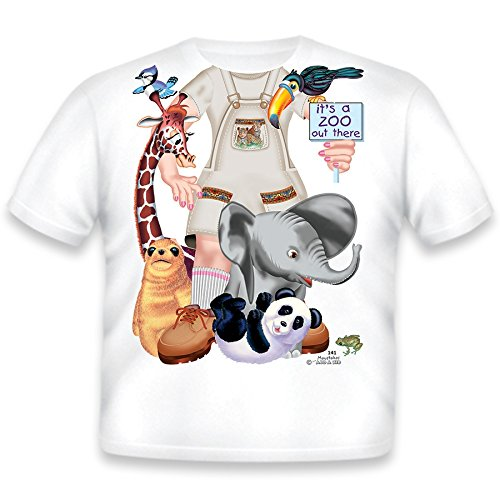Just Add A Kid Little Girls' Zoo Keeper Girl T-Shirt 2T White