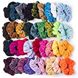 SEVEN-STYLE-36-Pcs-Hair-Scrunchies-Velvet-Elastic-Hair-Bands-Scrunchy-Hair-Ties-Ropes-Scrunchie-for-Women-or-G