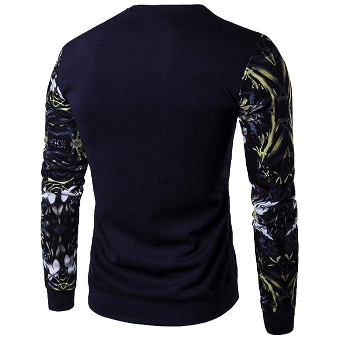 a89d04cbe Camisa de Manga Larga con Estampado de Flores de Manga Larga y Color  Bordado de Tops de Internet  Amazon.es  Ropa y accesorios