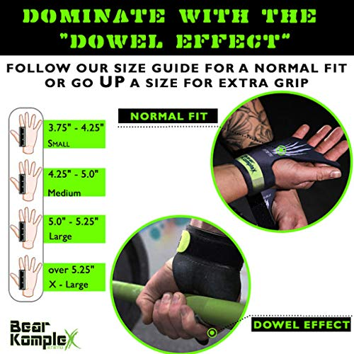 Bear KompleX Black Diamond 3 Hole Hand Grips Great for All Bars Gymnastics Comfort and Support Reduce Slipping Men /& Women Crossfit Protect from Blisters Ring Work Kettle Bell Barbell Speal