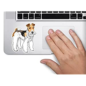 Dog wire fox terrier 3.5x3.5 inches sticker decal die cut vinyl - Made and Shipped in USA 2