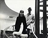 ALPHAVILLE (1965) Original double weight French still photo ft. Karina, Constantine on staircase