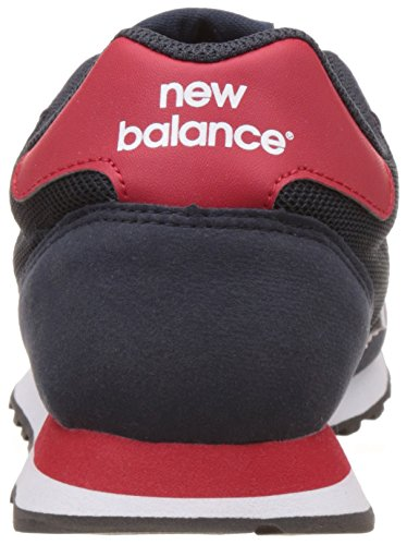 New Balance GM500 Herren Schuhe Sneaker, Navy/Red, 40.5