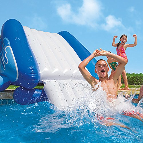 Intex kool splash inflatable swimming pool water slide for Quick up pool 120 hoch