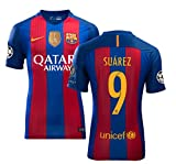 Full UCL Patch SUAREZ #9 Barcelona HOME Soccer Jersey Shirts 2016-17