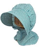 The Hatter(ザ・ハッター) 園芸帽子 ガーデニング 帽子 レディース 農作業 UV カット 日よけ 外での作業にな軽いチェック柄 女性 婦人 ハット つば広 おしゃれ 夏 春 首ガード 母の日