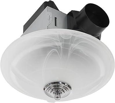 Homewerks Worldwide 7106 03 Ceiling Exhaust Fan 80 Cfm W Led Light White Amazon Com