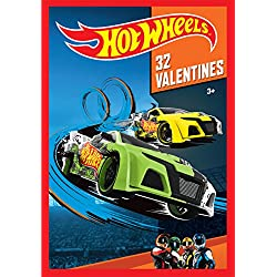 Paper Magic 32CT Showcase Hot Wheels Kids Classroom Valentine Exchange Cards