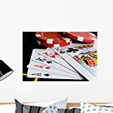 Wallmonkeys Poker Chips and Cards Wall Mural Peel and Stick Graphic (24 in W x 16 in H) WM48530