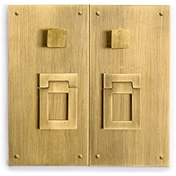 CBH Fat Brass Cabinet Face Plate Backplate Hardware Set 11