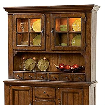 Broyhill Attic Heirlooms 5399-66 62\u0026quot; Wide China Door Hutch with 2 Drawers 2