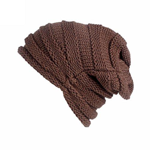Silk Wool Cap (URIBAKE Women's Winter Wool Knitting Hat Turban Brim Ladies' Hat Cap Pile Cap Crochet)