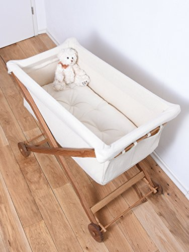 KOOTACRIB Baby's First Bed Made Entirely of Oak Wood and Bassinet of Natural Wool / Wool Stuffed Mattress Included by Koota Baby