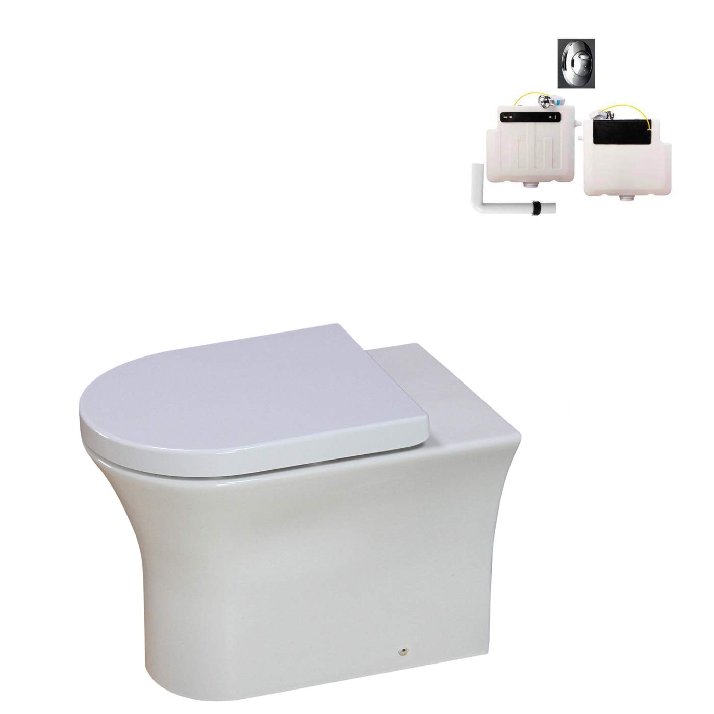 KLARA Toilet Back to Wall Concealed Cistern Ceramic Soft Close Seat