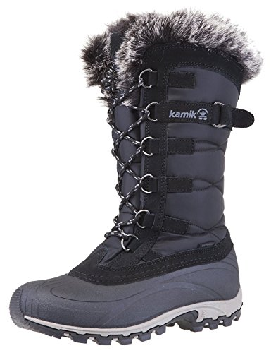 Kamik Women's Snowvalley Boot (8.5 B(M) US, Black/Grey) (Best Budget Snow Boots)