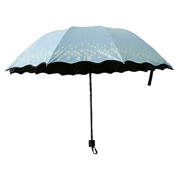 P Prettyia Paraguas Plegable Antiviento Sombrilla Compacta Impermeable Estampados con 10 Costillas Reforzadas para Hombres/