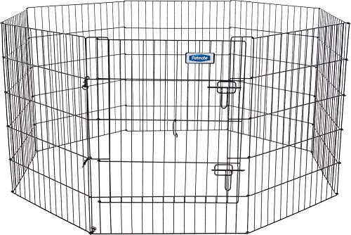 Petmate Exercise Pen W/Door Snap-Hook Design Included Ground Stakes 5 Different Heights ()